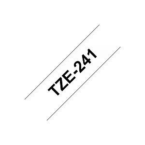 Brother Ruban adhésif d'étiquetage TZe-241, noir sur fond blanc, 18 mmx8m