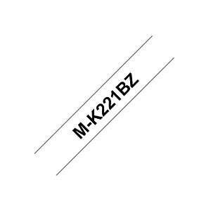 Brother Ruban titreuse BROTHER - MK - écriture Noir / fond Blanc - 9 mm x 8 m - Modèle MK-221