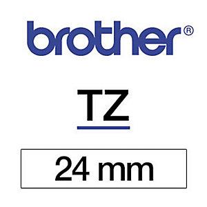 Brother Ruban titreuse BROTHER - TZe - écriture Noir / fond Blanc - 24 mm x 8 m - Modèle TZe-251
