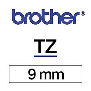 Brother Ruban titreuse BROTHER - TZe - écriture Noir / fond Blanc - 9 mm x 8 m - Modèle TZe-N221