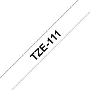 Brother Ruban titreuse BROTHER - TZe - écriture Noir / fond Transparent - 6 mm x 8 m - Modèle TZe-111