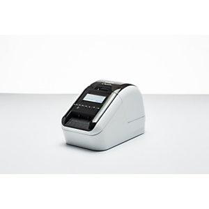 Brother Stampante per etichette QL-820NWB con WiFi, Bluetooth, MFi e LAN, Bianco e nero gloss