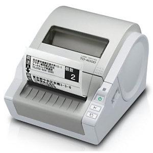 Brother TD-4000, Thermique directe, 300 x 300 DPI, 110 mm/sec, Gris
