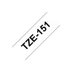 Brother TZe-151 Cinta autoadhesiva negro sobre transparente 24 mm