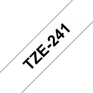 Brother TZe-241 Nastro adesivo per etichettatura, Nero su bianco, 18 mm x 8 m