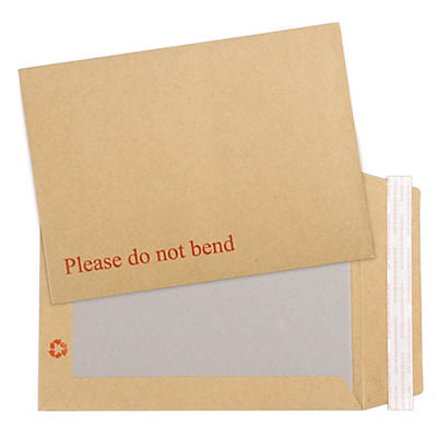Brown card backed envelopes