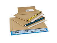 Brown cardboard envelopes with adhesive strip