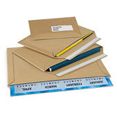 Brown cardboard envelopes with adhesive strip