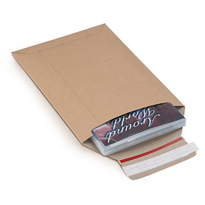 Brown cardboard envelopes with short edge opening