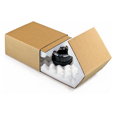 Brown foam slider postal boxes
