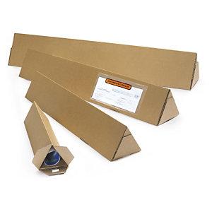 Triangular postal tubes add crush strength