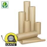 Bruin pakpapier op rol, industriële kwaliteit 90 g/m²