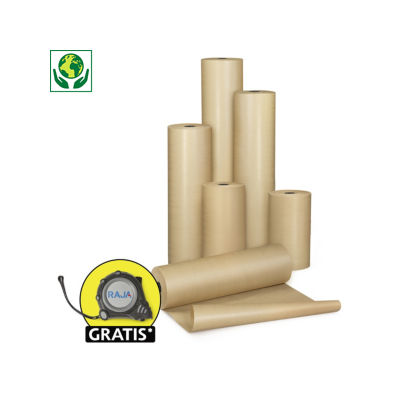 Papier d'emballage brun en rouleau, qualité standard 70 g/m²##Bruin pakpapier op rol, standaard kwaliteit 70 g/m²