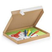 Bruine brievenbusdoos met bovenklep en zelfklevende sluiting