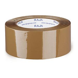 Bruine geluidsarme pp-tape industriële kwaliteit 50mm x 66m, lot de 36 rouleaux