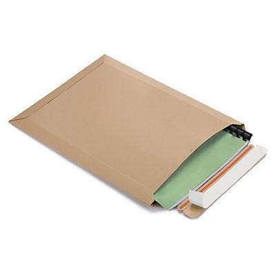 Brun kartonkuvert af massivpap, Lightbag Plus
