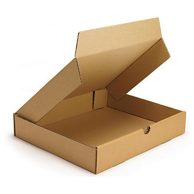 Bruna låga stansade lådor - höjd 50 mm