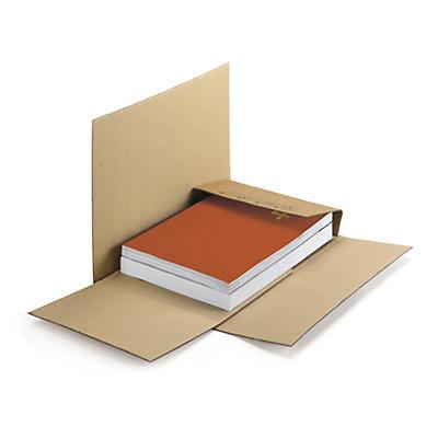 Bruna pappomslag - Kan skickas som brev