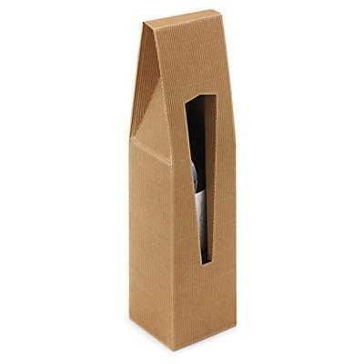 Bruna presentförpackning för vinflaskor