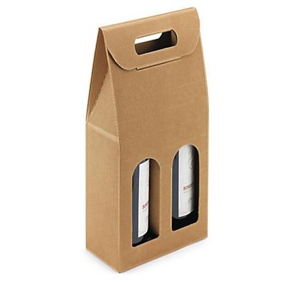 Bruna presentförpackningar för vinflaskor