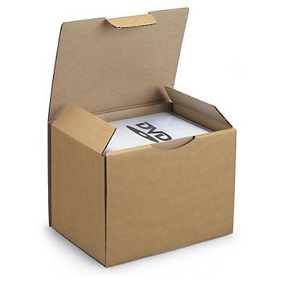 Bruna stansade lådor  för CD och DVD
