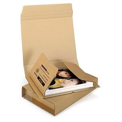 Brune omslag til bøger med selvklæbende lukning - Rajabook