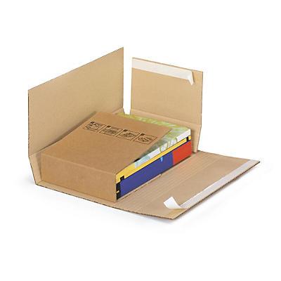 Brunt krydsomslag i pap til bøger Ecobook