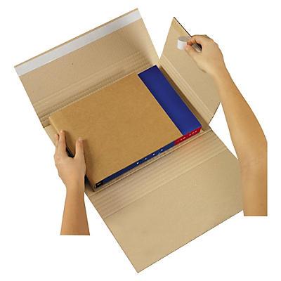 Brunt krydsomslag med dobbeltklæbende lukning - Ecobook