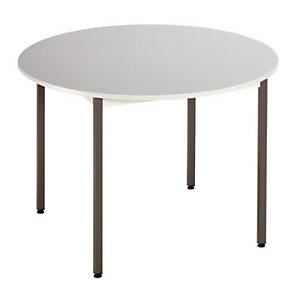 Budget Mesa circular, 110 (Ø) cm, gris / patas antracita