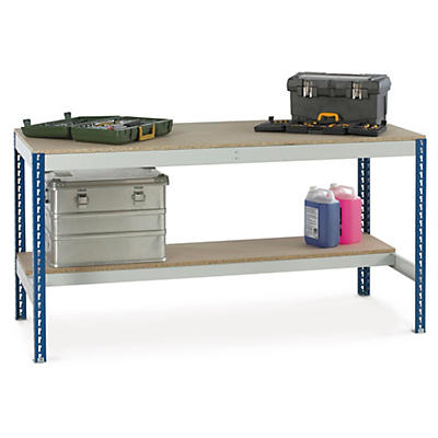 Budget workbenches with 1 shelf