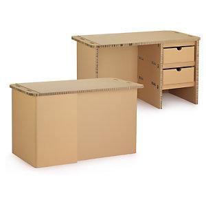 Bureau en carton alvéolaire