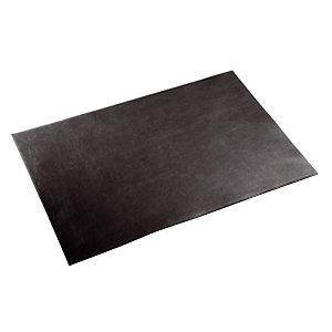 Bureau onderlegger in vaarsleder 64 x 45 cm kleur zwart