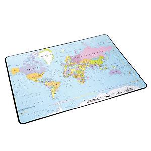 Bureau onderlegger wereldkaart 53 x 40 cm