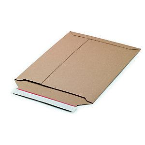Busta in cartone a chiusura adesiva, Apertura lato corto, 26,3 x 34,8 cm, Avana (confezione 100 pezzi)