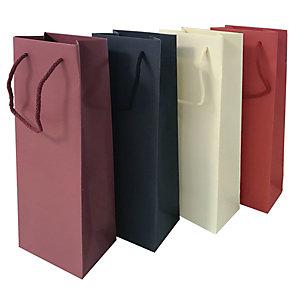 Busta portabottiglie Colors, Carta colorata in pasta, 12 x 9 x 39 cm, Rosso (confezione 10 pezzi)