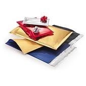 Busta regalo metallizzata con chiusura adesiva