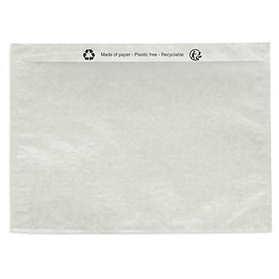 Buste portadocumenti adesive in carta