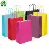 Buste shopper in carta colorata con maniglie ritorte RAJA