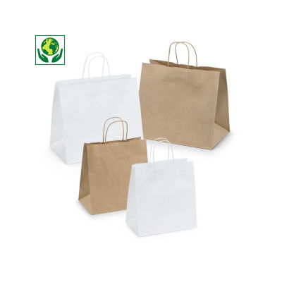 Buste shopper in carta kraft formato maxi RAJASHOP