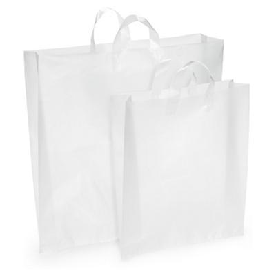 Buste shopper in plastica effetto iceberg con maniglie morbide