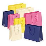 Buste shopper lusso con maniglie a cordoncino colori luminosi