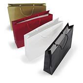 Buste shopper lusso con maniglie a cordoncino