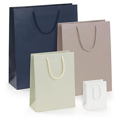 Buste shopper lusso opaca con maniglie a cordoncino colori classici