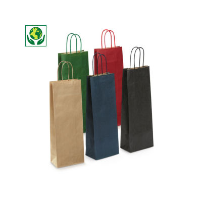 Buste shopper  per bottiglie in carta kraft