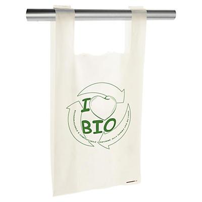 Buste shopper personalizzate in plastica biodegradabili 2 lati 1 colore
