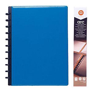 M by Staples ARC Blocco organizer A4, 60 fogli a righe, Copertina in pelle, Blu