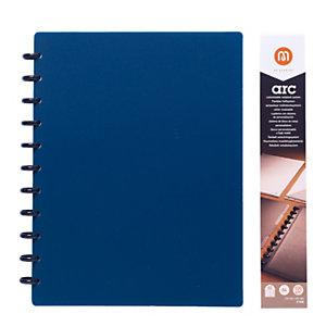 M by Staples ARC Cuaderno personalizable, A4, rayado, 60 hojas, discos de 19 mm, cubierta polipropileno, azul