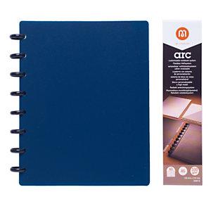 M by Staples Blocco ARC, A5, 60 fogli a righe, 100 g/m², Copertina in polipropilene, Blu