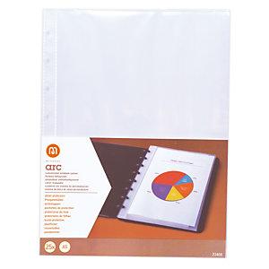 M by Staples Funda perforada, A5, polipropileno, 8 orificios, lisa, transparente
