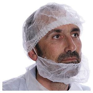 Cache barbes jetables - Blanc